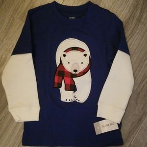 Carters polar bear long sleeved t shirt